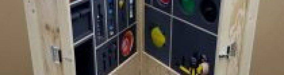 Caisse bois armoire avec calage mousse